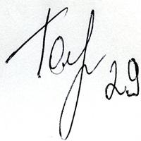 автограф Голышева